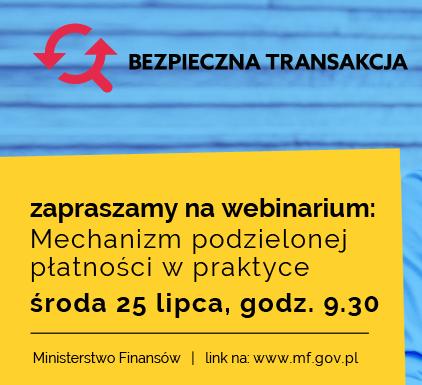 Webinarium MF dot. podzielonej płatności